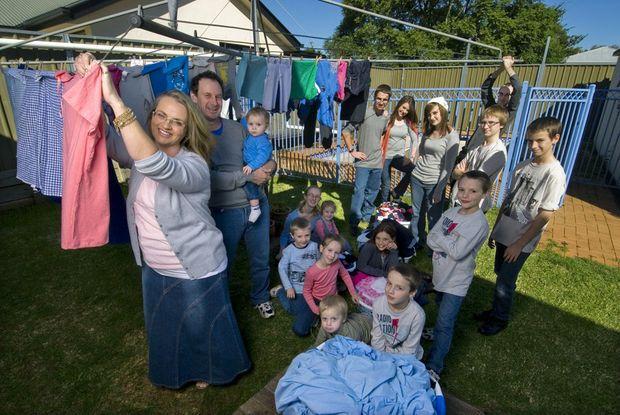 Toowoomba's Bonell family has one of Australia's busiest washing machines.