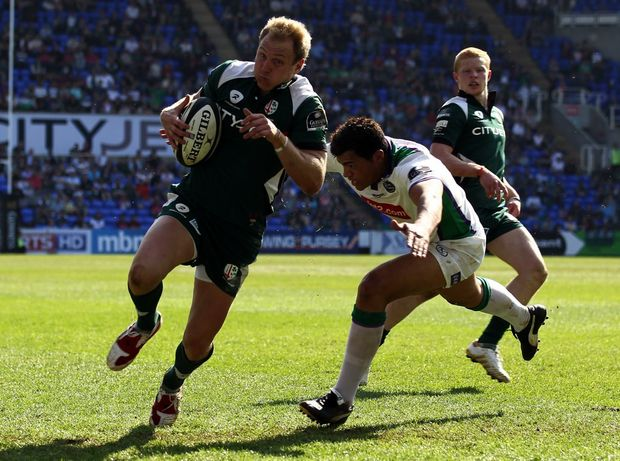 Peter Hewat seen here playing for London Irish.