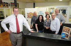 2012 Gympie Music Muster team (from left): Apex Muster chairman Chris Anderson, marketing and artist services manager Jeff Chandler, office co-ordinator Kaitlyn Anderson, business development manager John O'Brien, administration Lenchen Kurtzahn, operations manager Ray Maguire and CEO James Dein.