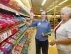 Mater Hospital dietician Fiona Lynch helps cardiac patient Margaret Mortimore make decisions about heart-healthy food choices.