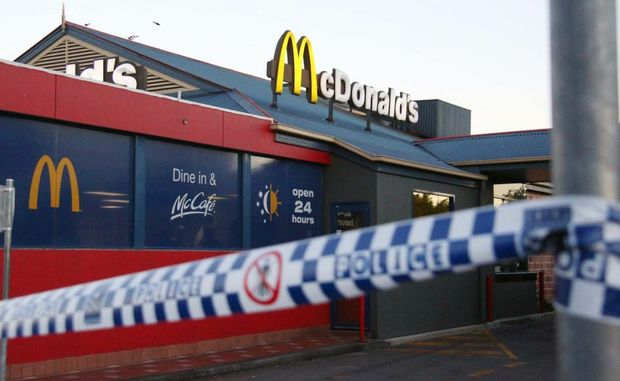 Coffs Harbour police are investigating an armed robbery at a local McDonalds outlet this morning.