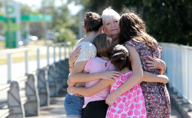 Four girls being deported to Italy, pictured with their great grandmother Caryl Highton.
