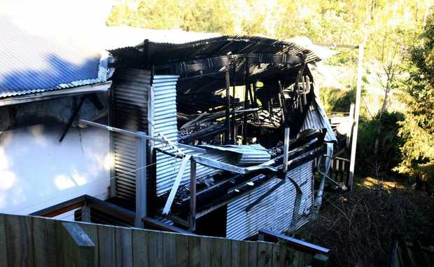 Fire destroyed this house in Piggabeen on May 14.