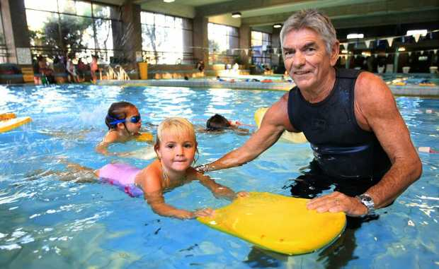 Nia Brooks and Michael Tom at the Tweed Heads Indoor Swimming Pool, are unsure about council's take over over the pool.