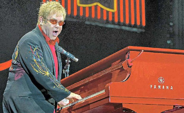 British musician and singer, Sir Elton John, performing during a concert in Rotterdam, Netherlands, but he won't be performing at the Bluesfest site here.