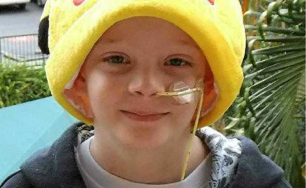 Brave cancer fighter Mitchell Luders.