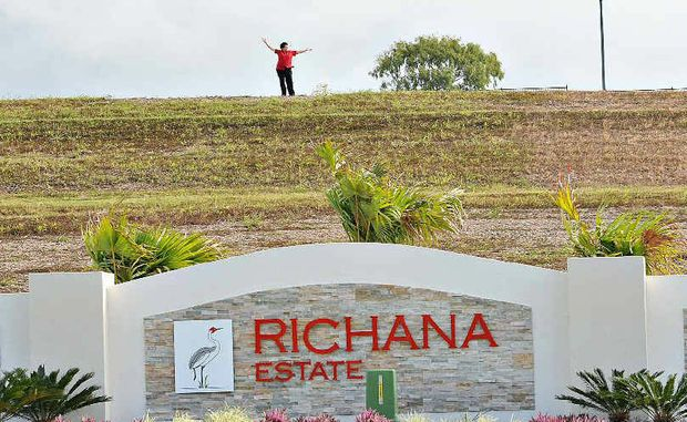 Richana Estate property developer sales agent Kathy Chetcuti is lost in the wide open spaces as the final phase gets under way.