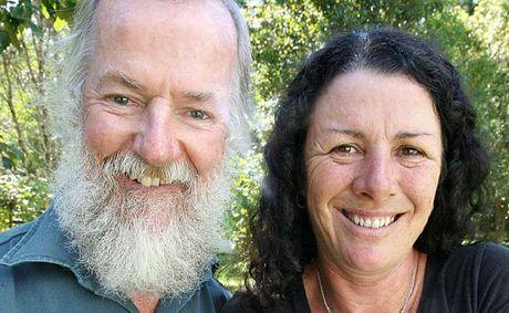 Native bushfood experts Graeme White and Veronica Cougan, of Witjiti Grub Bushfood Nursery, with finger limes.