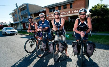 Tim Holman, Aaron Turner, John Clark and Daniel Seehusen the ride 2 rescue riders who have arrived on the Coffs Coast.