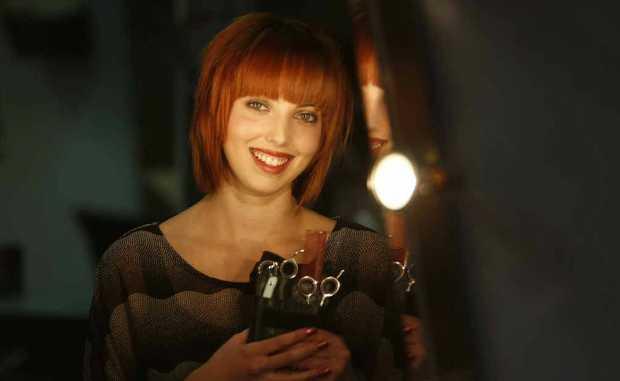 Apprentice hairdresser Lauren Sanders.