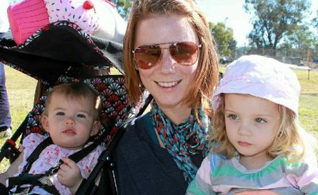 Molly, Sarah and Piper Grant soak up the sun at the Ryanie for Tyres Show and Shine at the weekend.
