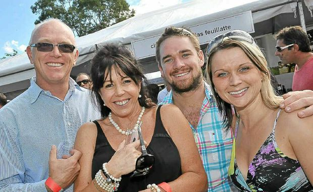 Matthew Rees-Jones, Delia Thomas, Rick Hatherall and Victoria Gremo at the Food and Wine Festival in Noosa.