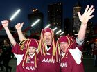 Maroons and NSW Blues supporters gather in Melbourne ahead of the first game in the 2012 State of Origin series.
