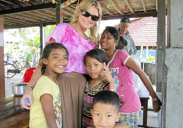 The late Alissa Marshall on her life-changing trip to Cambodia in 2011/12.