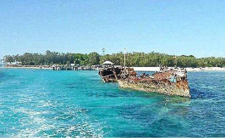 Queensland's Heron Island where a boat carrying 35 Grafton students ran aground this week.