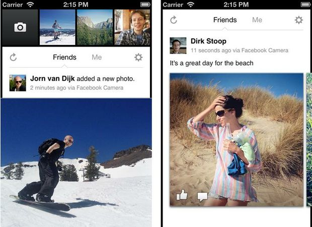 "The new mobile app ""makes using Facebook photos faster and easier"" according to product manager Dirk Stoop."