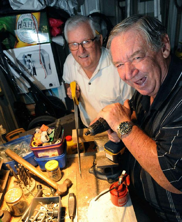 Bundaberg Men's Shed Association organisers Spencer Freemantle and Jim Elmes are excited about getting the new group off the ground.