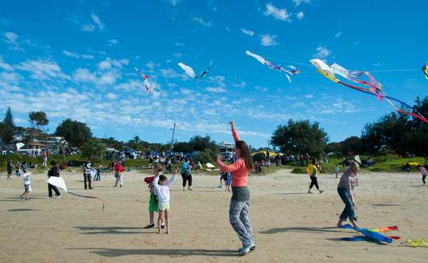More than 6000 people converged on the Emerald Beach Community Fair on Sunday.