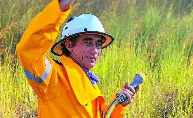 CALL UP: Tirroan Rural Fire Brigade first officer Les Gane is seeking volunteers.