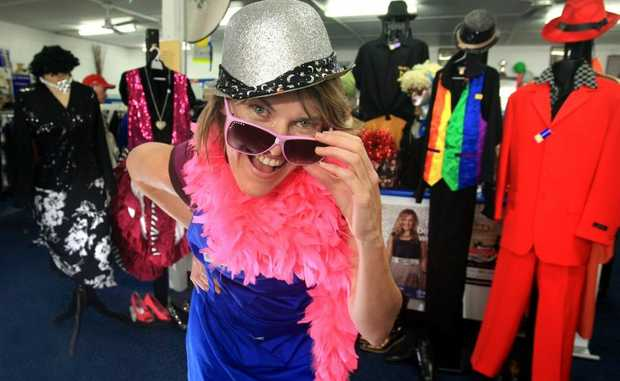 Get your fashions for this year's festival at St Vincent de Paul, Tweed Heads. Jacqueline Lloyd models a few of the threads available.