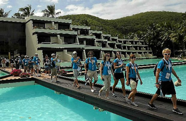 The finalists for the Best Job In The World at Hayman Island resort in 2009. Hayman has again hit the international headlines this week, being mentioned in the Leveson Inquiry into media ethics.