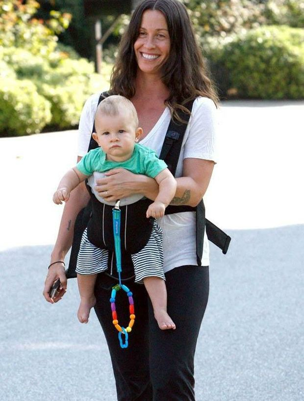 Alanis Morissette and baby Ever Imre