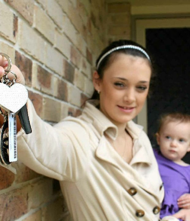 Alice Hodgkinson (with her daughter Piper Lloyd) is ready to open the door to her own home.