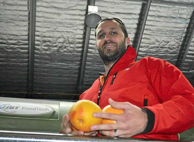Operations manager for Australian Juice Processing at Grove Juice Warwick Tim Willis works hard to meet demand.