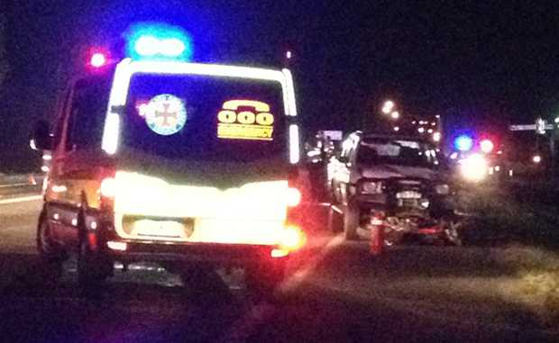 Two people have been killed after a motorcycle and car collided south of Mackay.