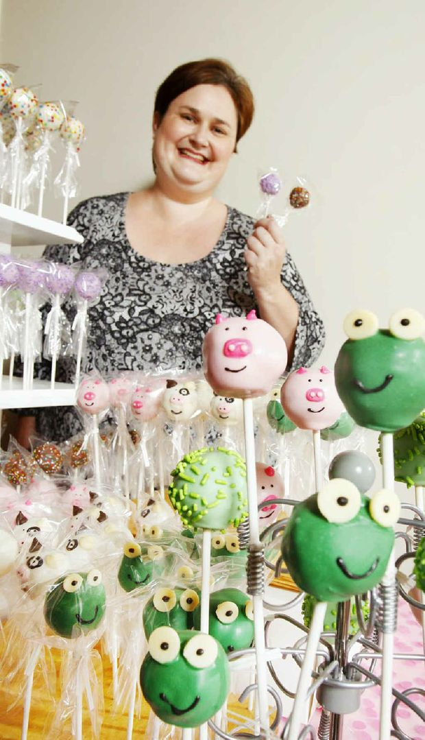 Cake pop maker Tracy Hall of Yamanto specialises in the colourful treats.