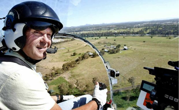A helicopter from Biosecurity Queensland uses world-first remote sensing technology to detect fire ants. Photo: Contributed