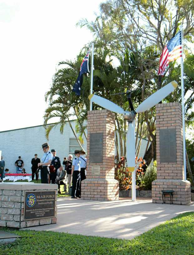 A service was held yesterday to remember the 40 US servicemen who died in the 1943 Bakers Creek air crash.