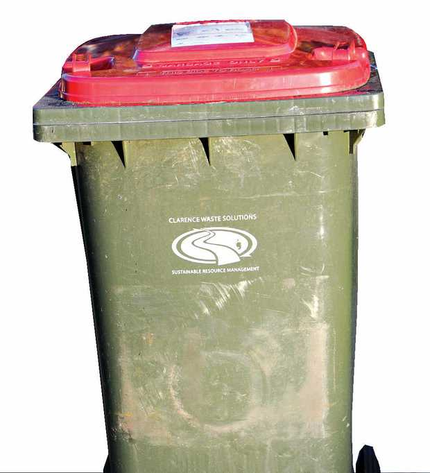 Council's red bin: the bin of last resort.