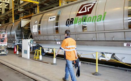 Jobs at QR National's Redbank workshops are under threat.