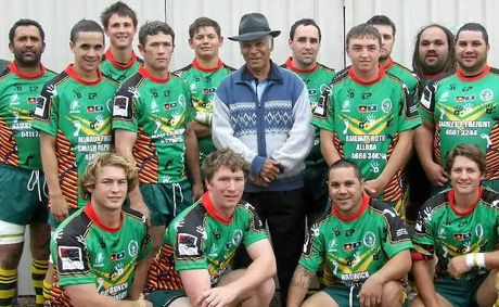 Wattles A-grade resplendent in their Reconciliation jerseys prior to