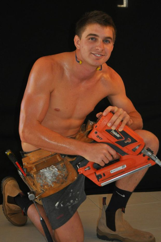 Hayden McNicol takes his gear off to pose for the 2012-13 Warwick Workmen's Calendar.