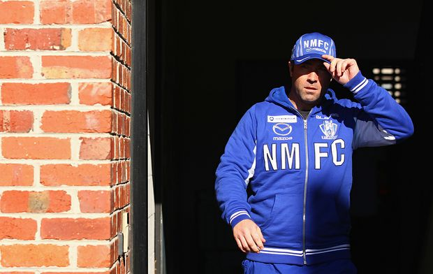 North Melbourne AFL coach Brad Scott.