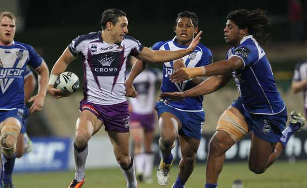 Melbourne Storm and the Canterbury-Bankstown Bulldogs