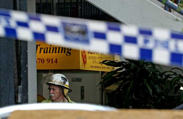 A fire was reported at The Indian Shop on Griffith St, Coolangatta.
