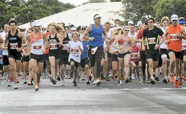 Competitors take off at the start of the annual Ring Road Run.