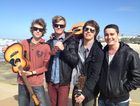 Afterglow is set to perform at Caloundra Music Festival. (L-R) Rhys Molloy, Jack McDonald, Kenny Gerard and Tim O'Leary.