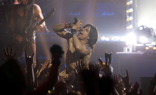 Tom Cruise in a scene from the movie Rock of Ages.
