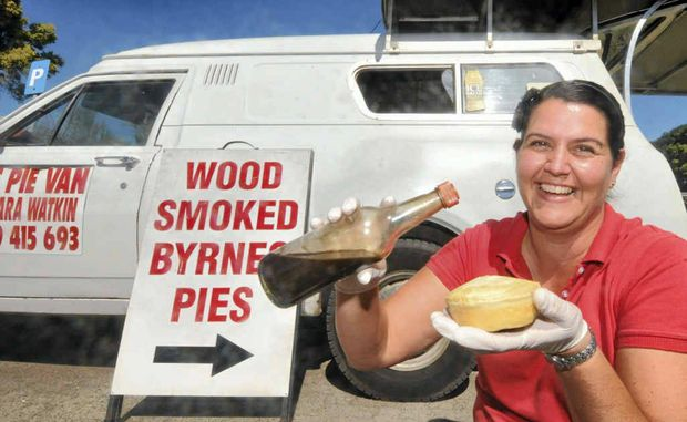 Barbara Watkin, owner of TJ's Pie Van, which stocks hot pies from the Byrne's Pie Factory, said sales go well during winter.