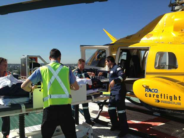 A man has been injured after colliding with a truck in Tweed Heads.