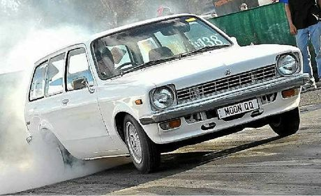 Lyn Stewart doesn't let her age get in the way of her accelerator foot when it comes to the drag track.