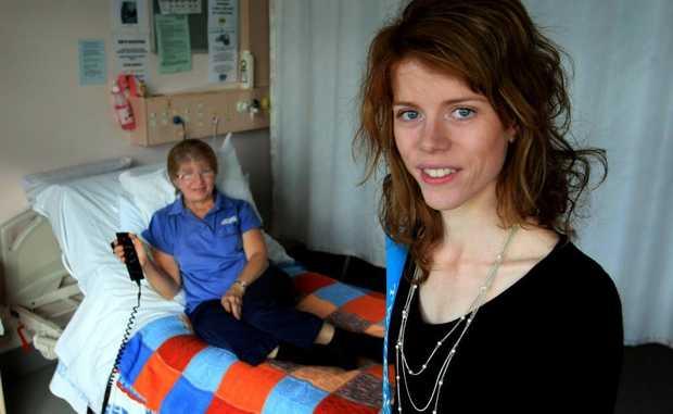 Ruth Davis (on bed) and Elizabeth Davis.