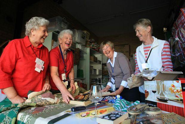 Tweed Hospital Auxiliary's Kathleen Sinnott, Jean Carter, Cathy Fraser and Denise Morton.