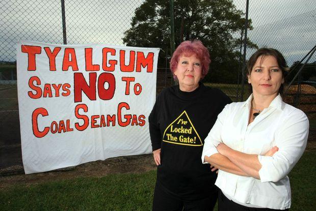 DECLARING: Julie McNamara and Michelle Rawlings at Tyalgum.
