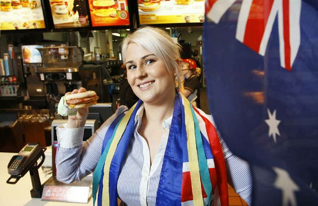 McDonald's Yamanto supervisor Jaide Hunt will work in a McDonald's at the Olympics.