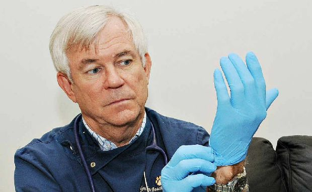 Vet David Lemmon is glad he donned protective gear.